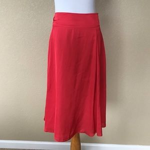 White House Black Market Red A-Line Skirt, Size 12